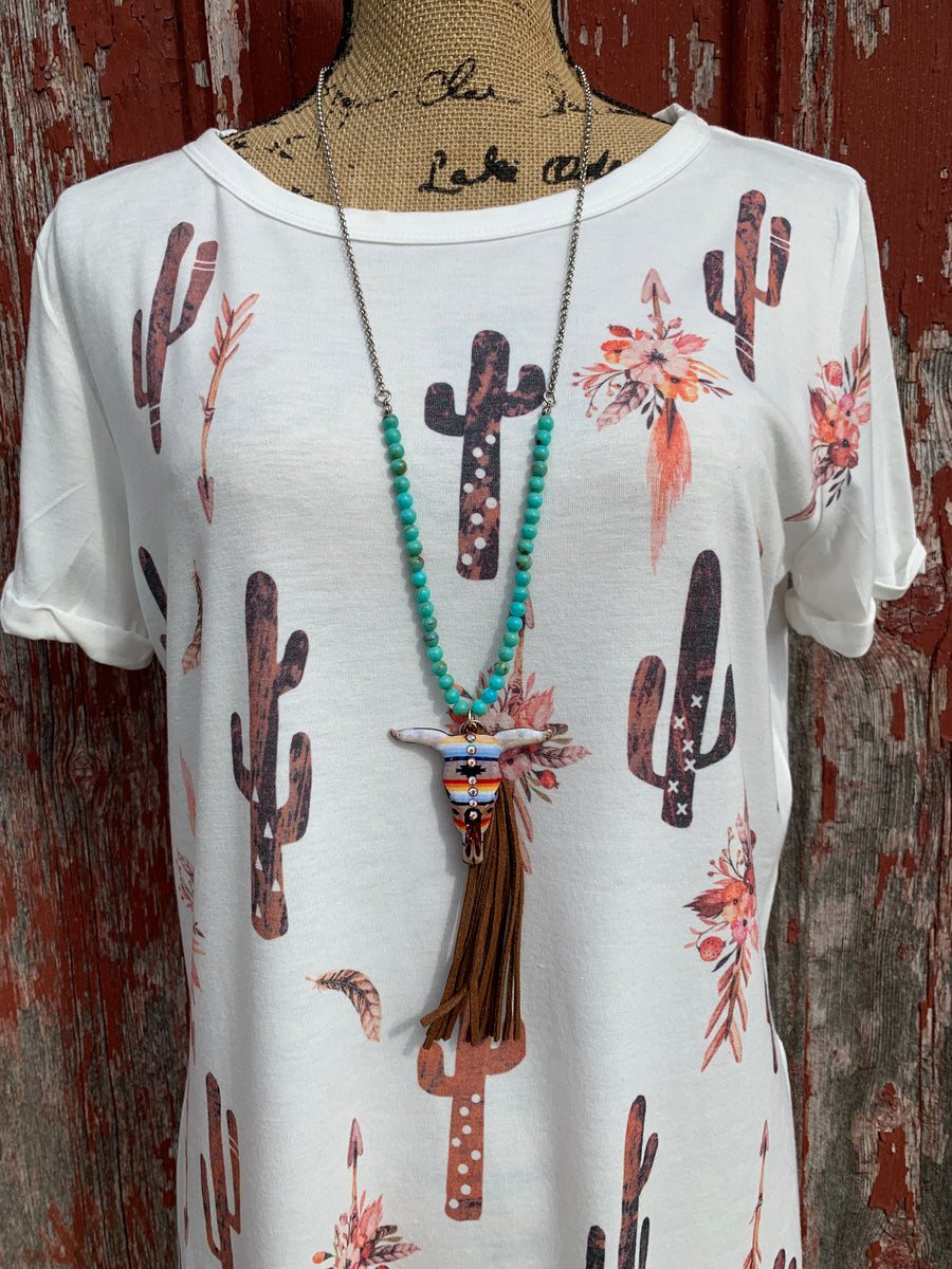Cactus Arrow Short Sleeve Shirt