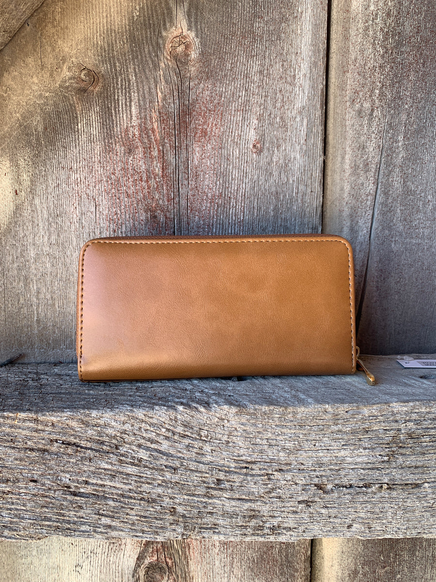 Aztec Zip Wallet Brown