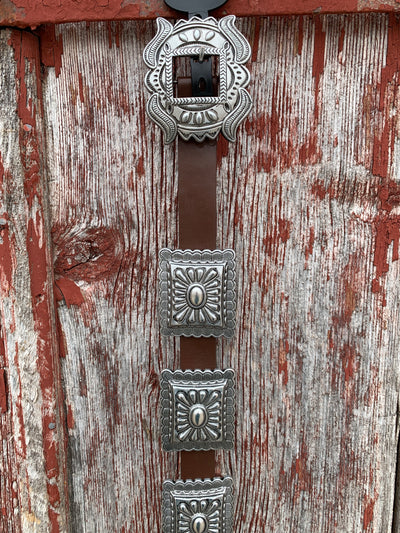 Silver Square Concho Belt