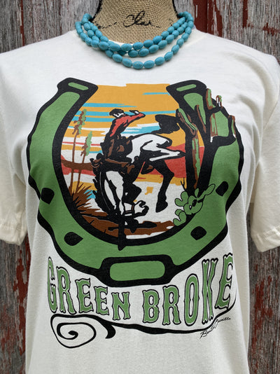 Green Broke Bucking Bronc Tee