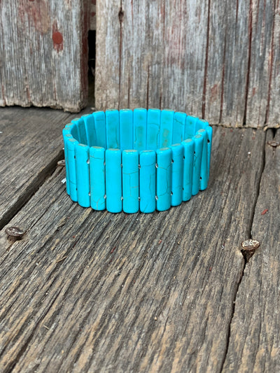 Turquoise Hot Shot Stretch Bracelet