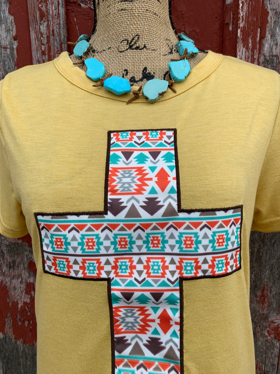 Aztec Cross Patch Tee