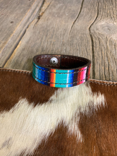 Serape Leather Bracelet
