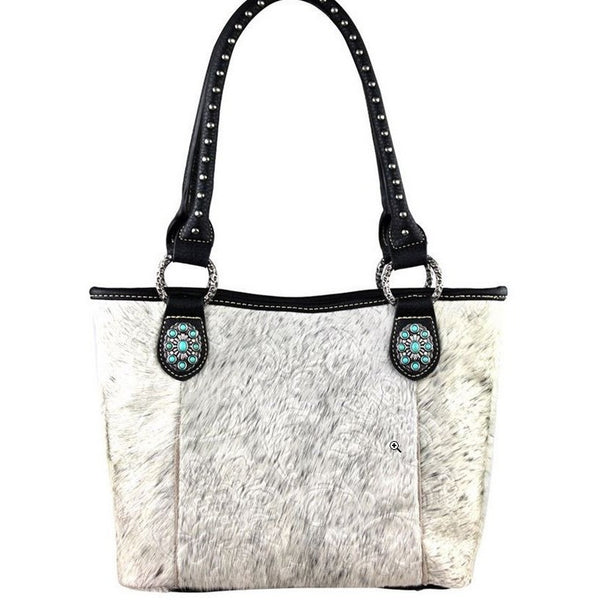 Embossed Cowhide Purse - Ropes and Rhinestones
