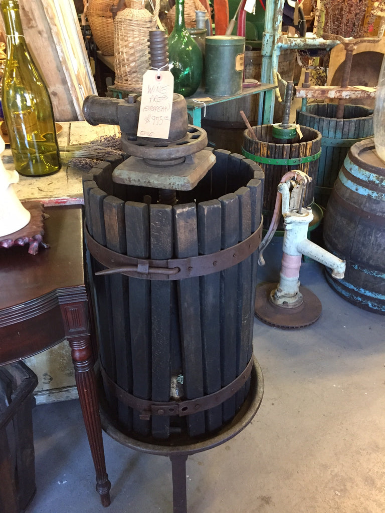 Small European Wine Press. SOLD