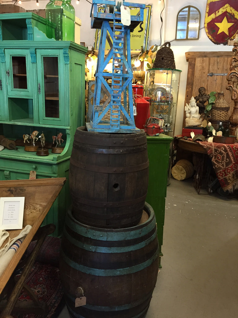Wooden Kegs and Water Tower SOLD