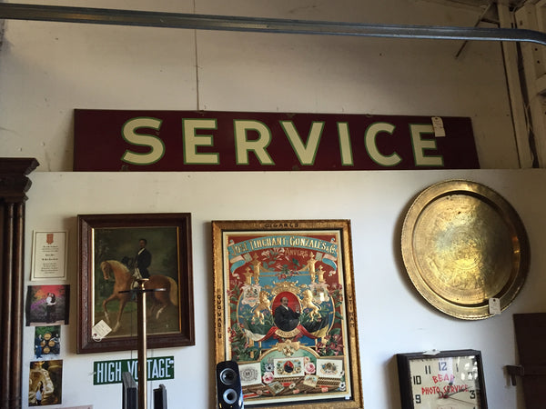 Tin Service Sign SOLD