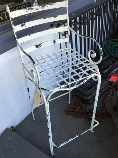 Metal cained barstool SOLD