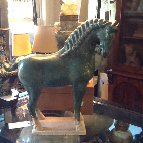Tang Style Green Horse Terra Cotta. SOLD
