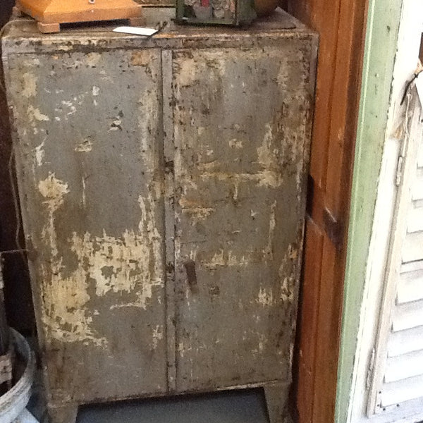 Green metal cabinet SOLD