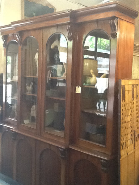 Victorian Break Front Bookcase