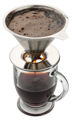 Bartelli Paperless Pour Over Coffee Dripper Stainless Steel