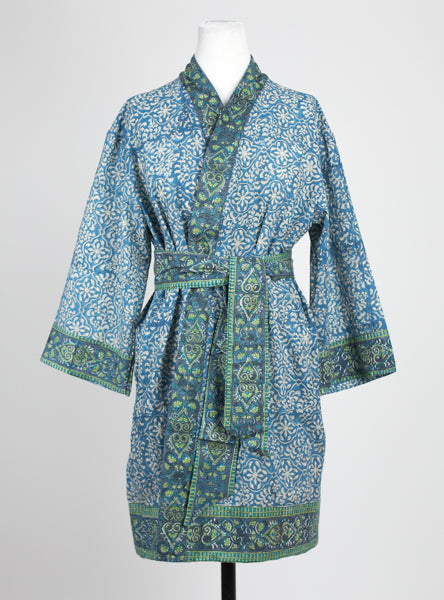 Blue Grey Short Robe