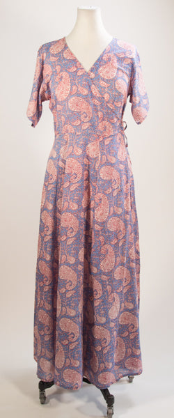 Purple Paisley House Dress