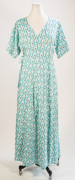 Teal House Dress