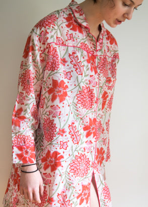 Night Shirt - Pink Flower