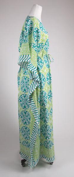 Lime and Teal Kaftan