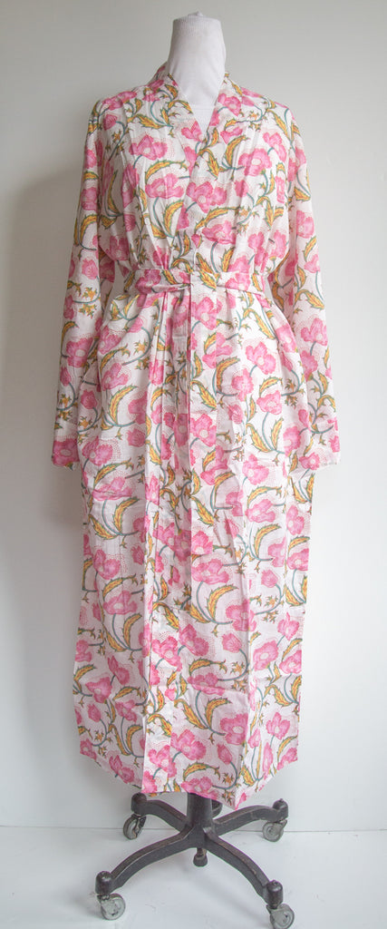 Pink Floral Robe XL