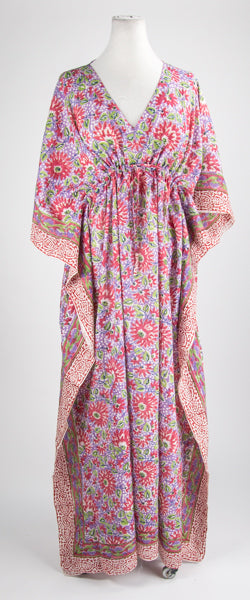 Pink Passion Flower Kaftan