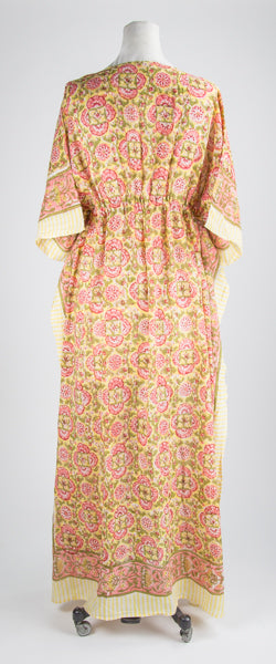 Pink and Gold Kaftan