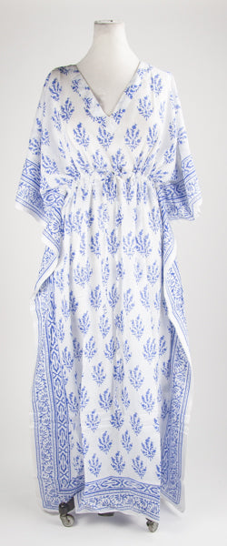 Blue Leaf Kaftan