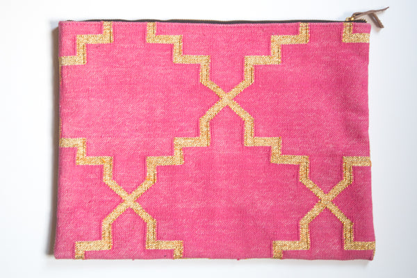 Pink and Metallic Gold Laptop Sleeve