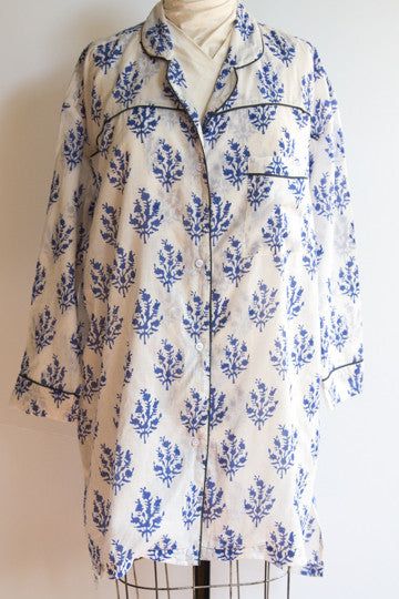 Night Shirt - Blue Tree