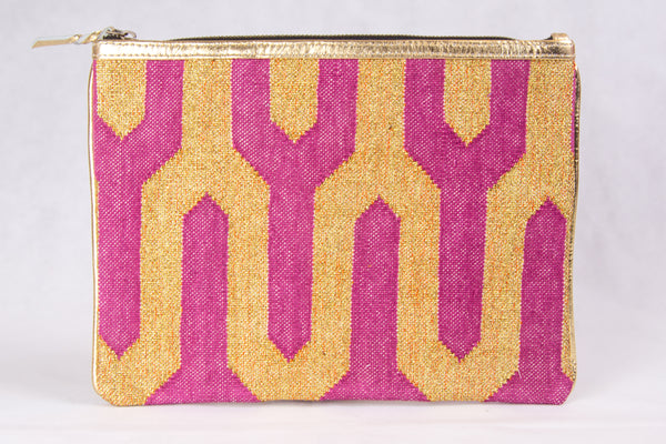 Pink and Metallic Gold iPad Sleeve