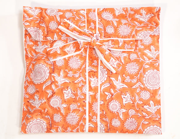 Orange Floret Pajamas