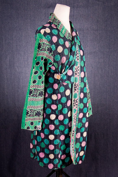 Reversible Kantha Quilted Jacket