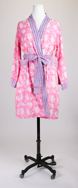 Short Bright Pink Robe S/M