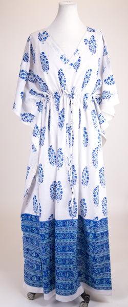 Blue and White Kaftan