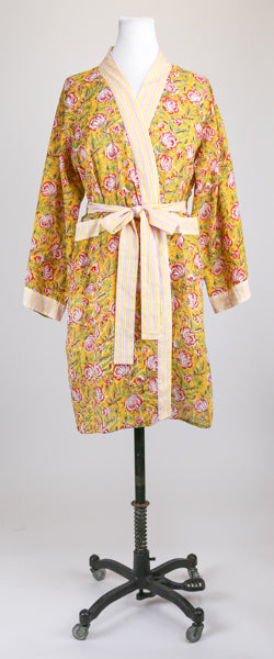 Short Mustard Flower Robe S/M
