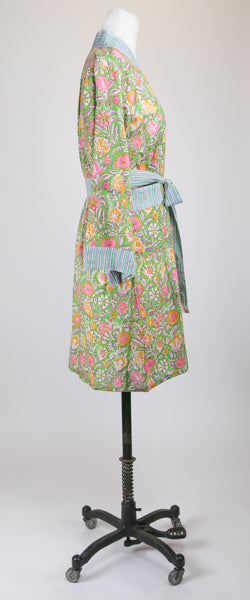 Short Green Garden Robe M/L