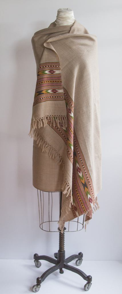 Sand Yak Wool Shawl