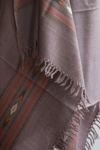 Light Brown Yak Wool Shawl