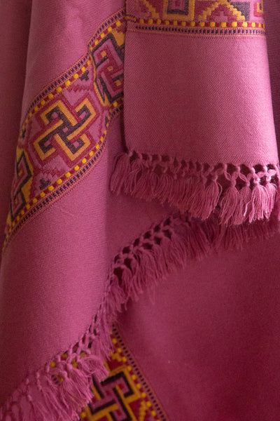Pink Yak Wool Shawl