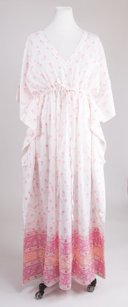 White and Pink Kaftan