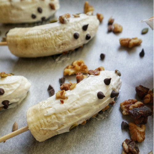 healthy halloween banana ghost recipe