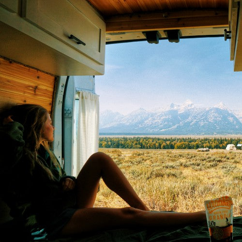 best tips for being healthy on a road trip van life