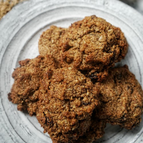 paleo and grain-free and vegan oatmeal cookies