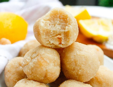 Paleo Lemon cookie dough bites