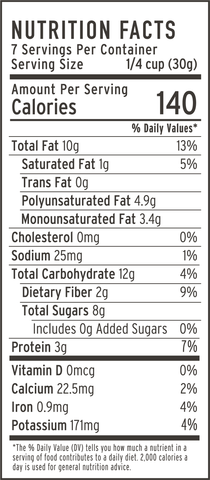 apple cinnamon grain-free granola nutrition facts