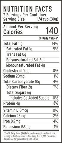 Dark Chocolate sea salt nutrition facts