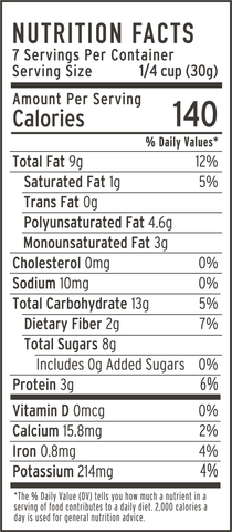 banana nut granola nutrition facts