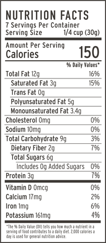 coconut cashew granola nutrition facts