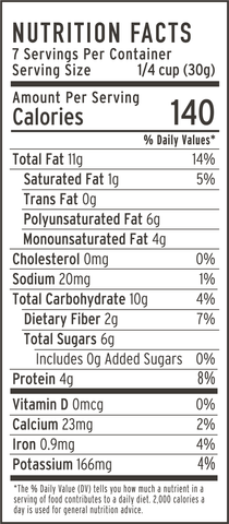 dark chocolate strawberry granola nutrition facts