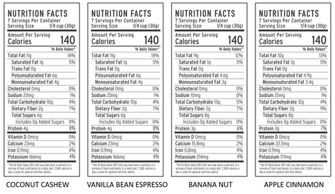 grain free granola nutrition facts