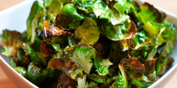 vegan snack ideas - brussels sprout chips