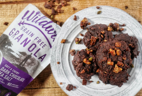 Grain free double dark chocolate granola muffins